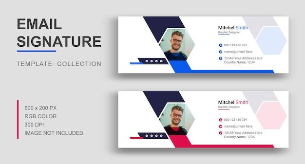 Conception de modèle de signature de courrier électronique d'entreprise