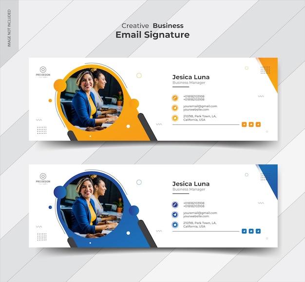 Conception de modèle de signature de courrier électronique professionnel