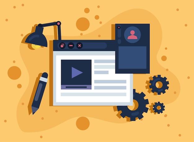 Conception de modèle de site web avec des outils