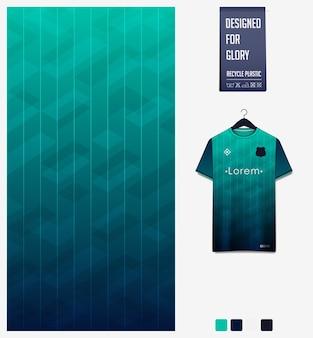 Conception de modèle de tissu de sport pour maillot de football. fond abstrait.