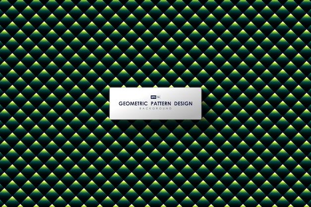 Conception de modèle de triangle vert abstrait de fond d'œuvres d'art moderne.