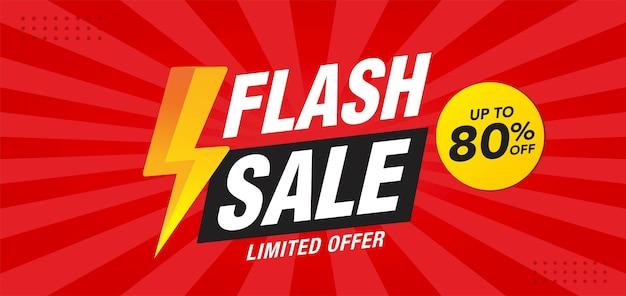 Conception de modèle de vecteur de bannière de vente flash