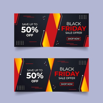 Conception de modèle de vecteur black friday conception de paquet de black friday conception de modèle de publication de médias sociaux