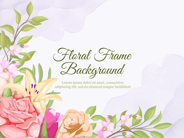 Conception de modèle de vecteur floral été bannière de mariage
