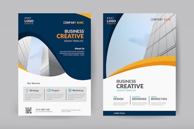 Conception de modèle de vecteur pour brochure et flyer