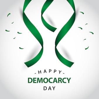 Conception de modèle de vecteur pour le jour de la démocratie heureuse