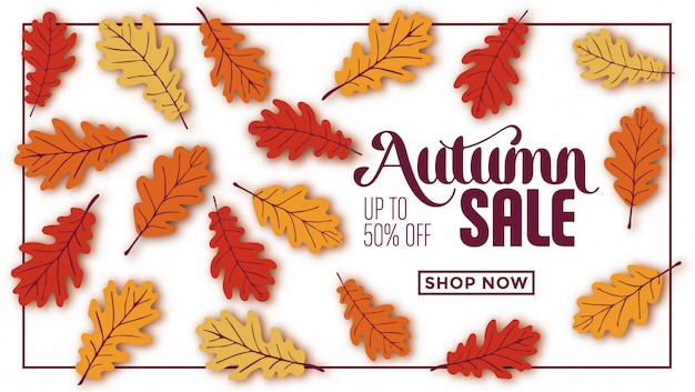 Conception de modèle de vente automne
