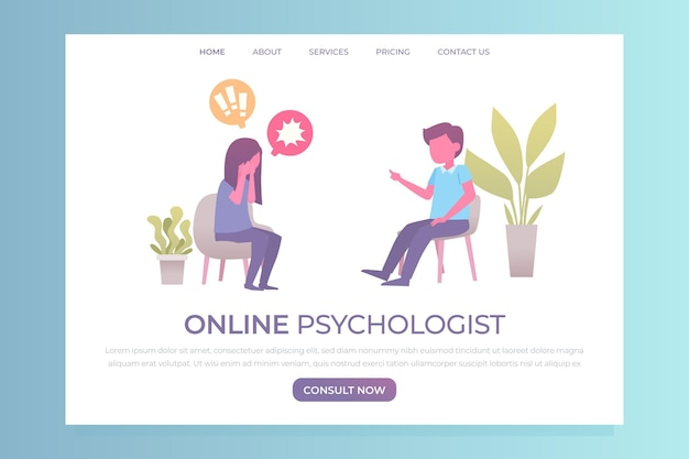 Conception de modèle web d'aide psychologique