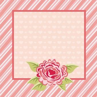 Conception de modèles au cours de l'illustration vectorielle fond rose