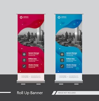 Conception de modèles de bannière business roll up