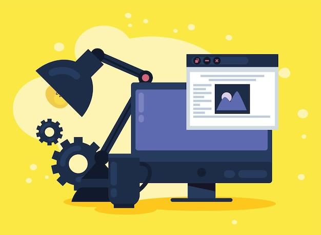 Conception de modèles de bureau et de site web
