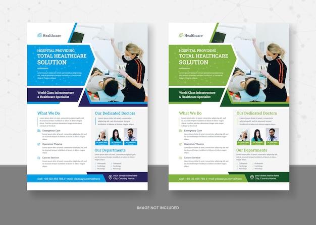Conception de modèles de flyers pour la santé et la médecine