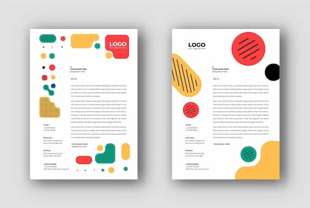 Conception de modèles de papier à en-tête d'entreprise, illustration vectorielle.