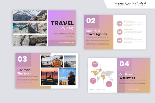 Conception de modèles de présentation powerpoint pour agences de voyages
