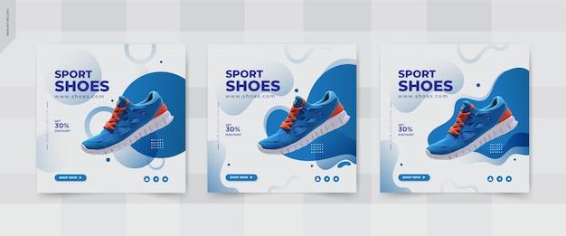 Conception de modèles de publication de médias sociaux de chaussures