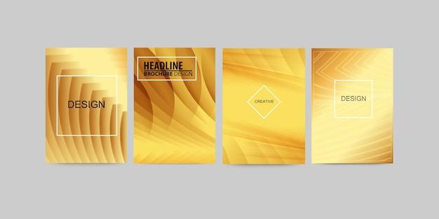 Conception moderne de couvertures dorées.