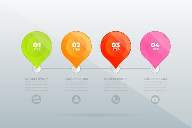 Conception moderne étapes professionnelles infographie