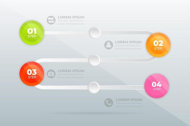 Conception Moderne étapes Professionnelles Infographie Vecteur Premium