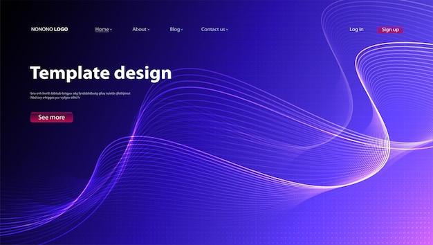 Conception moderne de fond abstrait. page de destination. modèle pour la conception vectorielle de sites web ou d'applications.