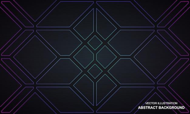 Conception moderne de lignes abstraites noires et de couleur