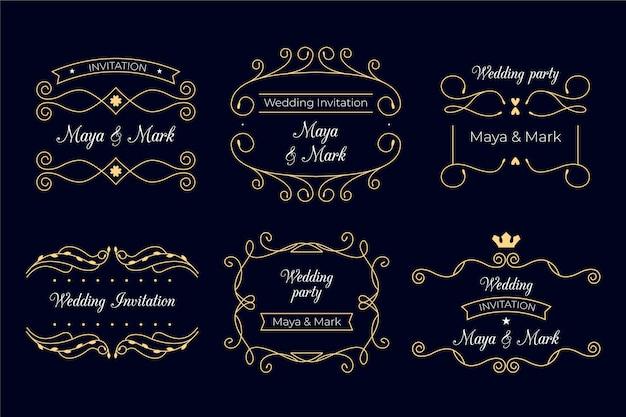 Conception de monogrammes de mariage élégant