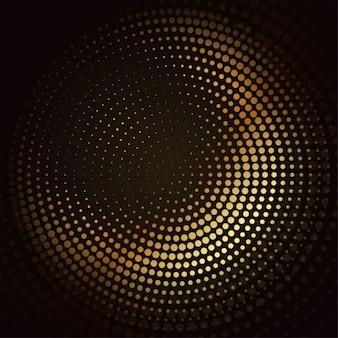 Conception de mosaïque dorée de vecteur de demi-teinte