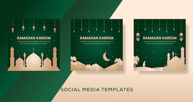 Conception de la mosquée ramadan kareem
