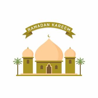 Conception de mosquée de style plat