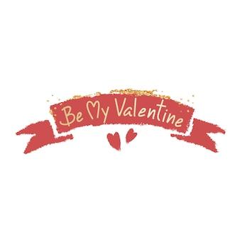 Conception de mot valentine typographie sur fond