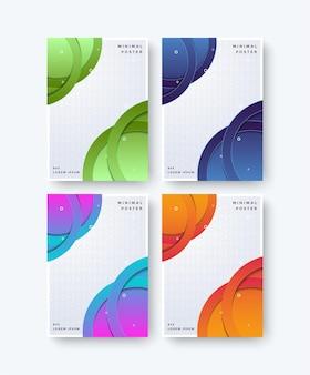 Conception de motif abstrait couvertures minimales colorées