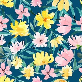 Conception de motif floral aquarelle abstraite