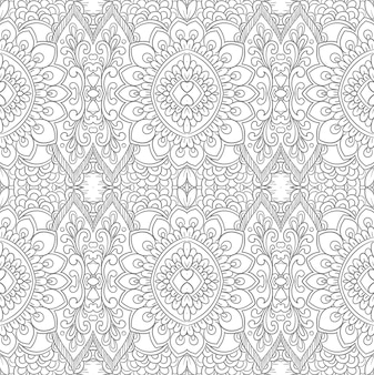 Conception de motif floral décoratif ethnique moderne