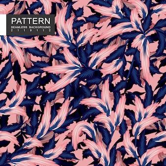 Conception de motif floral sans soudure rose et bleu