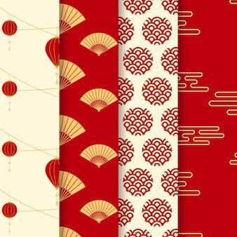 Conception de motif de fond chinois