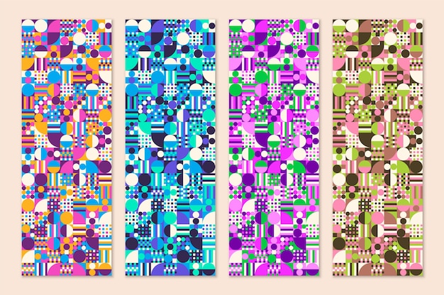 Conception de motif géométrique abstrait en différentes couleurs