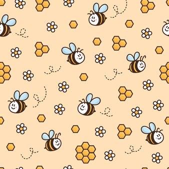 Conception de motif de surface avec nid d'abeille marguerite