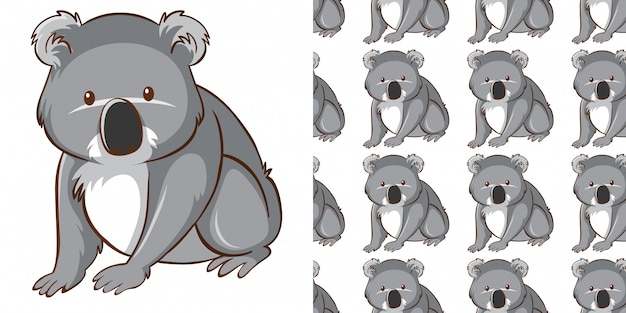 Conception avec motif transparent koala mignon
