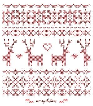 Conception de motif tricoté de noël