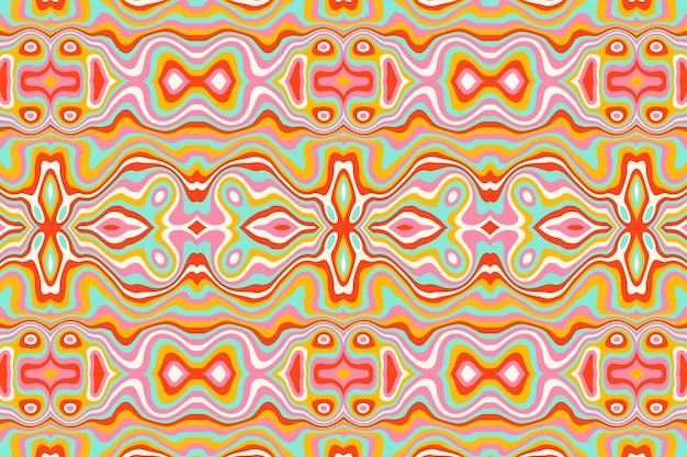 Conception de motifs psychédéliques groovy dessinés à la main