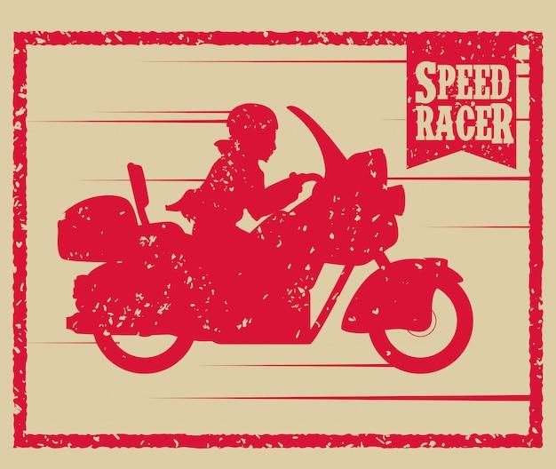 Conception de moto.