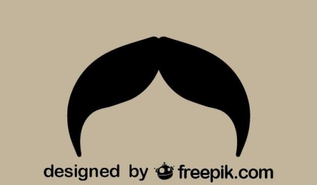 Conception moustache silhouette vintage