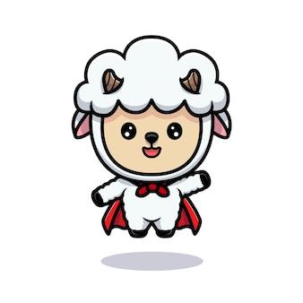 Conception de moutons mignons volant