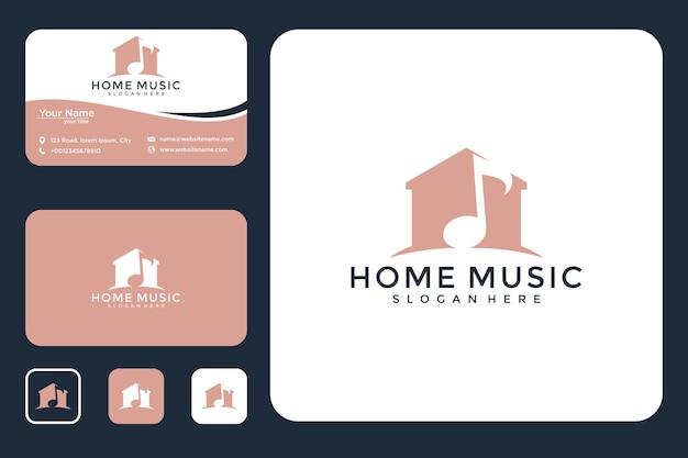 Conception de musique à la maison et carte de visite
