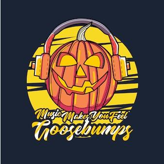 Conception de la musique avec le vecteur de thème hallowen