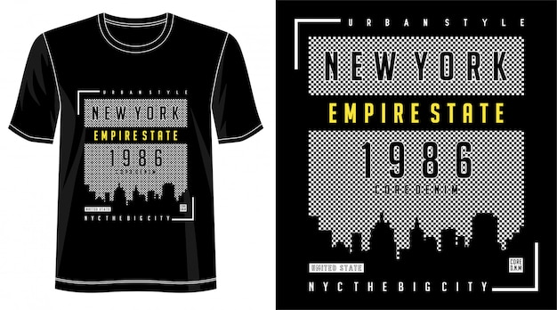 Conception de new york pour t-shirt imprimé