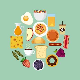 Conception de nourriture de petit déjeuner