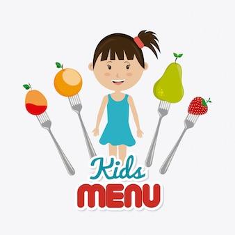 Conception de nourriture pour enfants.