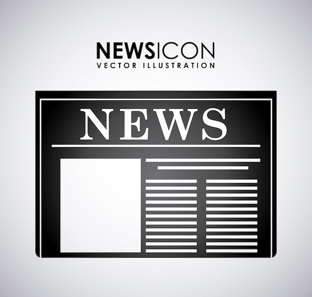 Conception de nouvelles sur l'illustration vectorielle fond gris