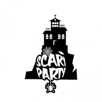 Conception de nuit effrayant avec vecteur de typographie