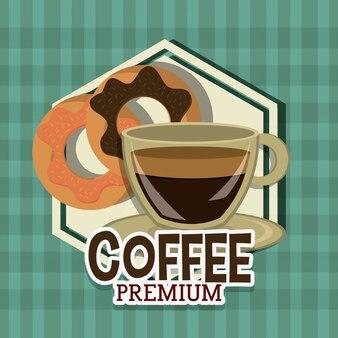 Conception numérique de café.